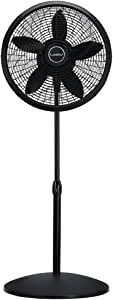 Lasko 1827 18″ Elegance & Performance Adjustable Pedestal Fan, Black - Features Oscillating Movement Tilt-back Fan Head