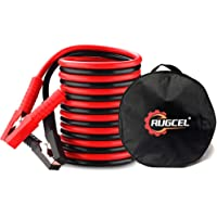 RUGCEL WINCH 6 Gauge Jumper Cable Kit for Car Battery 12 Ft Heavy Duty Emergency Booster Jumper Cables with Carry Bag (6 AWG x 12 Feet)