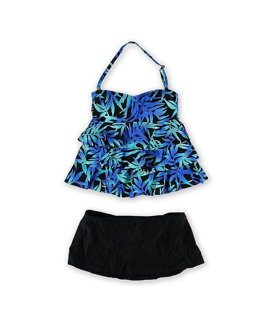 8a3c9ab055 Island Escape Womens Tahiti Skirtini 2 Piece Tankini Green 6 at Amazon Women's  Clothing store: