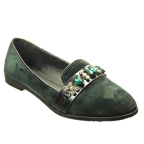 Angkorly Zapatillas Moda Mocasines Slip-On Mujer Joyas Tacón Ancho 1.5 cm cm: Amazon.es: Zapatos y complementos