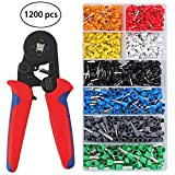 Kamtop Crimping Tool Set 0.25-6mm² Adjustable Wire Terminal Crimper with 1200PCS AWG 10-22 Connectors Crimper Plier for AWG 23-10