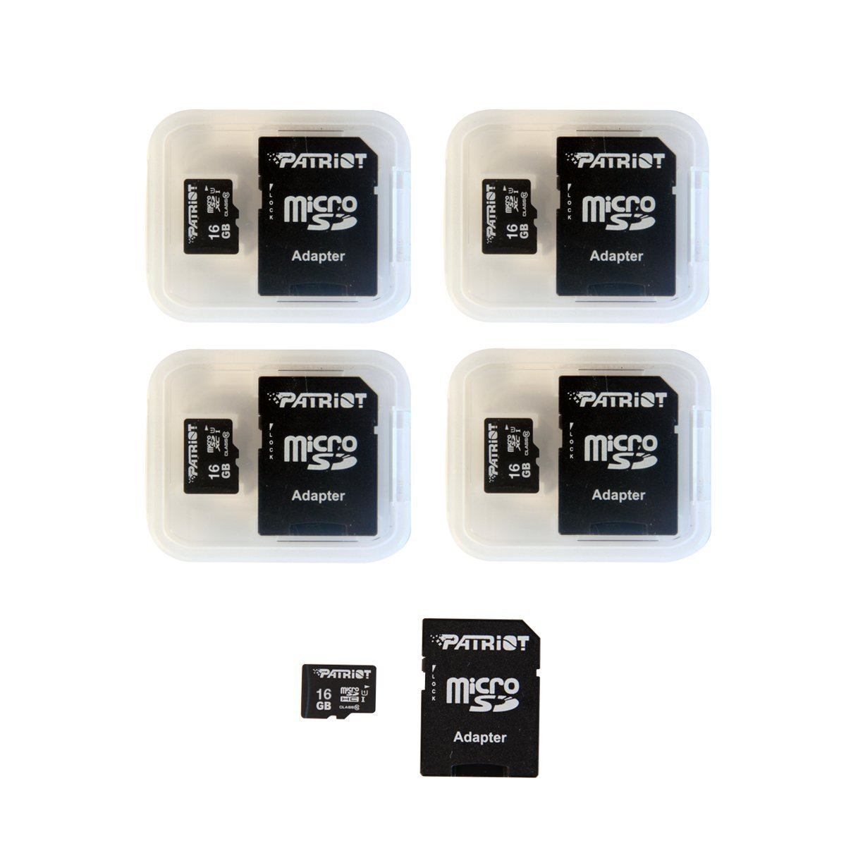 TALLA 16GB 5-Pack. Patriot LX Series 16Gb Micro Sdhc - Class 10 Uhs-I - 5 Pack (Psf16Gmcsdhc5Pk)