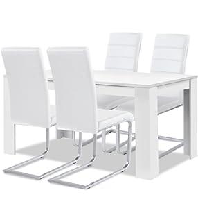 Stühle weiß kunstleder  Esszimmerstuhl Marta Design Kunstleder weiß Stuhl Stühle Esszimmer ...