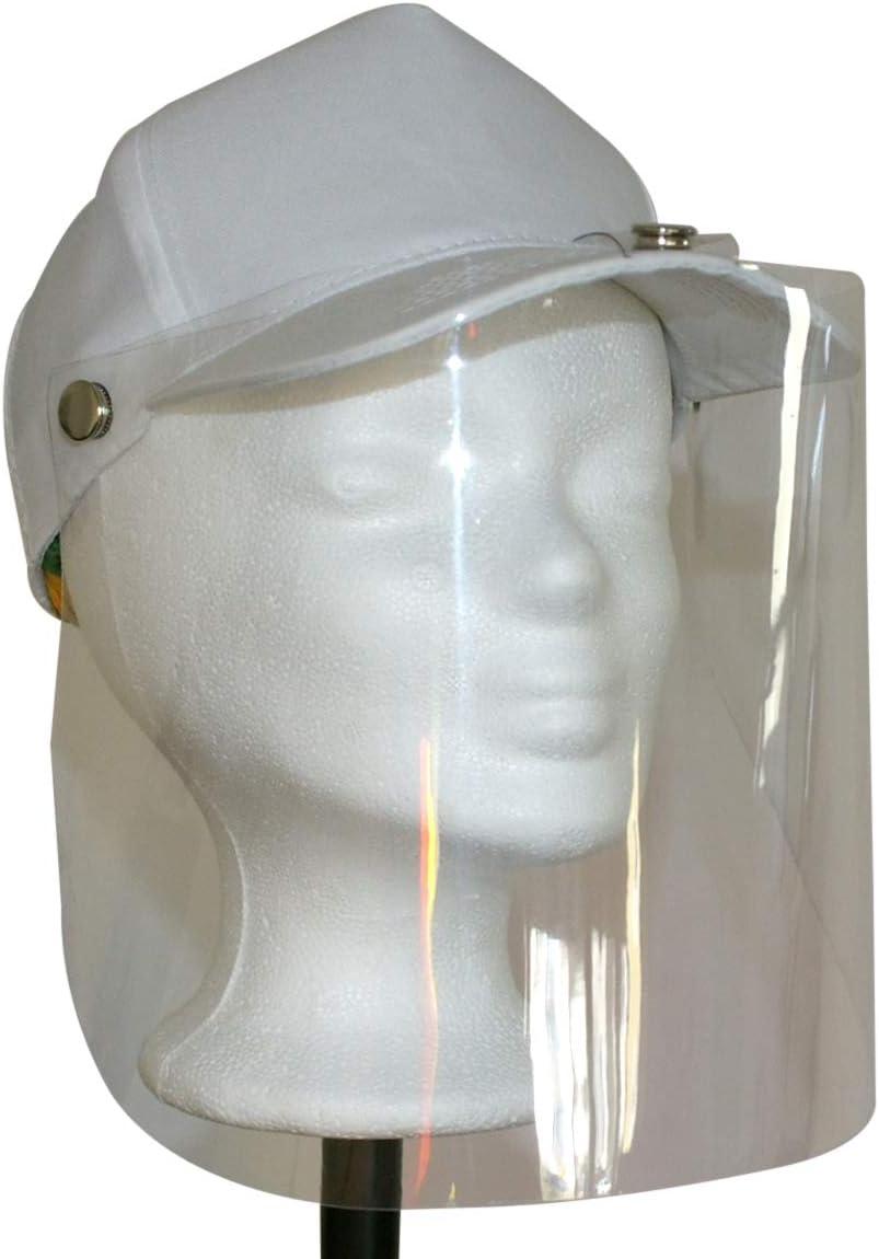 Protection contre les bosses protection de la bouche en plastique Visi/ère de protection faciale en PVC Blanc Protection du visage en plastique Masque facial