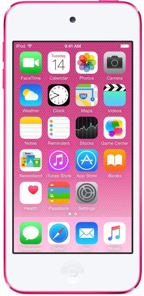 Apple iPod Touch 16GB Pink (6th Generation) MKGX2LL/A (Renewed)