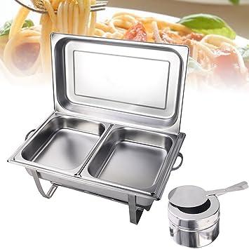 Calentadores de comida para buffet Catering Chafing Dish Calentador Para Buffet Set Juego de chafing dish
