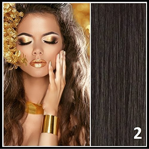 Athenia? 22'' inch Clip in Futura Hair Extensions - Six Piece Full Head set - ** 150 GRAMS of hair per pack** - Heat Style up to a Massive 200 Degrees - Superior Salon Quality - Natural Look & Feel - Colour #2 Dark Brown by Athenia