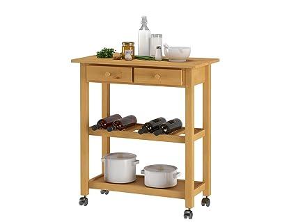 Carrello Cucina Salvaspazio : Lifestyledesign carrello da cucina legno dellalbero della gomma