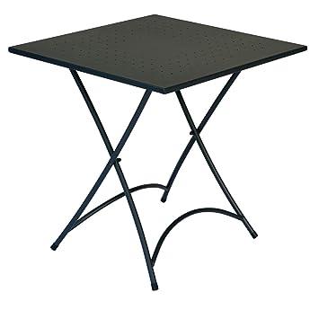 tavolo da giardino pieghevole quadrato in ferro stresa moia ... - Tavolo Da Giardino Pieghevole In Ferro