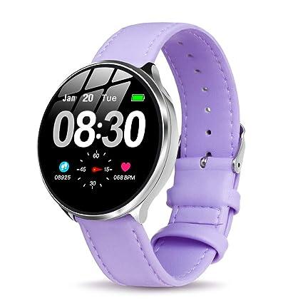 GOKOO Smartwatch Mujer, Impermeable Reloj Inteligente Elegante Monitores de Actividad Impermeable IP67 con Monitor de Sueño Pulsómetros Podómetro ...