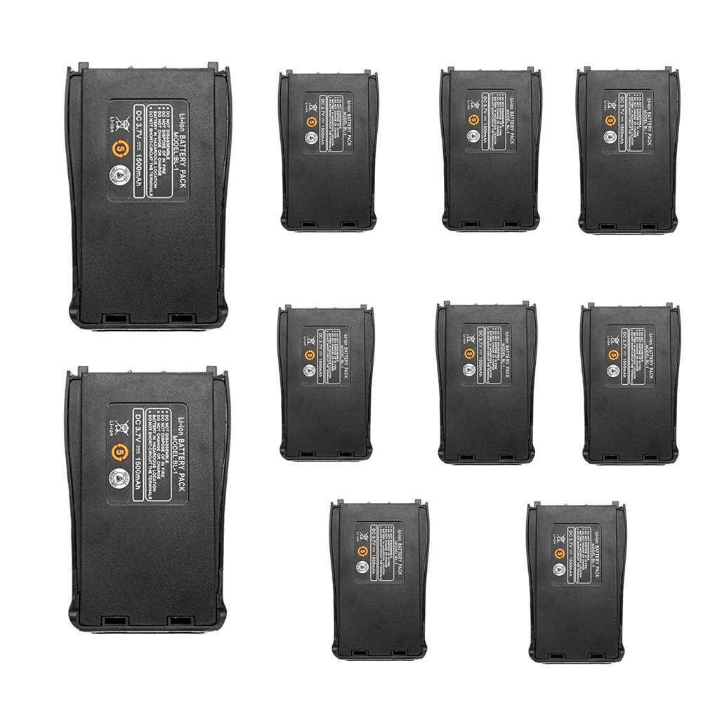 Replacement Battery for Baofeng (10pcs) BF-888S BF-777S Bf-999S Retevis H-777 and Arcshell Walkie Talkies