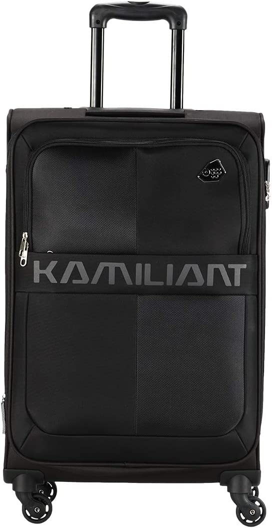 [Apply coupon] Kamiliant by American Tourister Kam Oromo Polyester 69 cms Black Softsided Check-in Luggage (KAM Oromo SP 69 cm - Black)