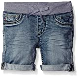 VIGOSS Girls' Knit Waist Bermuda Short, Splash Away,7