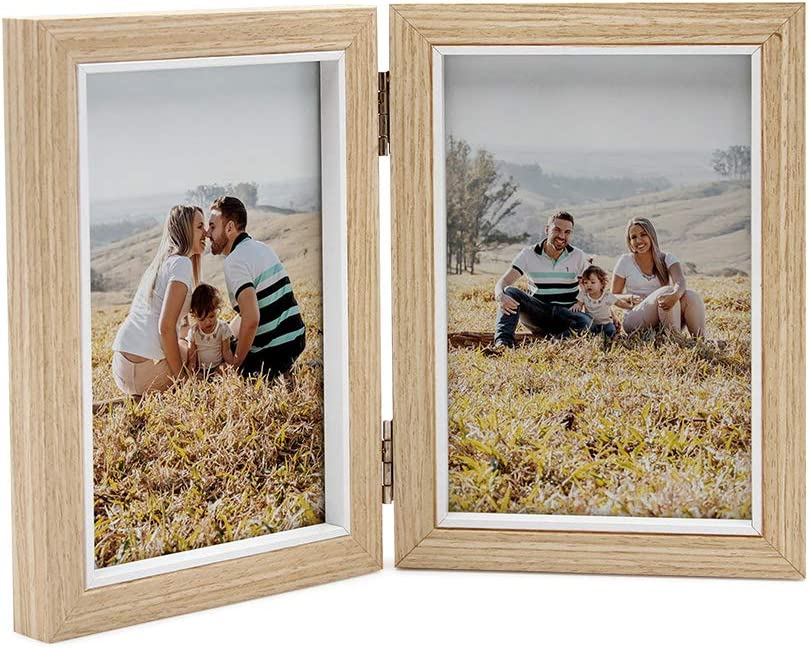 8x10 Green Teal Rustic Double Hinged Vertical Wood Photo Picture Frame New