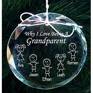 grandparents christmas gift ornament grandma gifts grandpa gifts handmade crystal holiday ornaments cor004