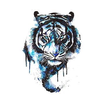 cb98b75090d12 WYUEN 5 Sheets Watercolor Tiger Temporary Tattoo Sticker Fake Waterproof  Tattoo For Women Men Body Art