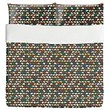 Elephant Zone Duvet Bed Set 3 Piece Set Duvet Cover - 2 Pillow Shams - Luxury Microfiber, Soft, Breathable