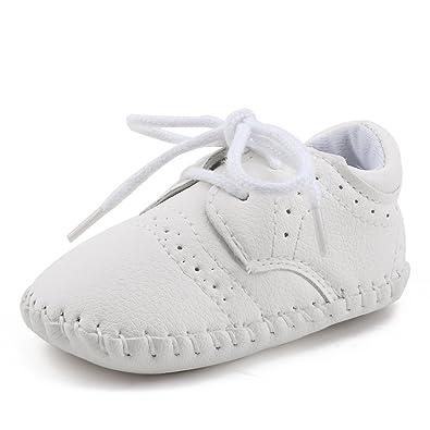 buy popular 09e2f 8e571 DELEBAO Babyschuhe Baby Turnschuhe Neugeborenen Junge Schuhe Krabbelschuhe  Aus Leder Weiche Sneaker für Kleinkinder