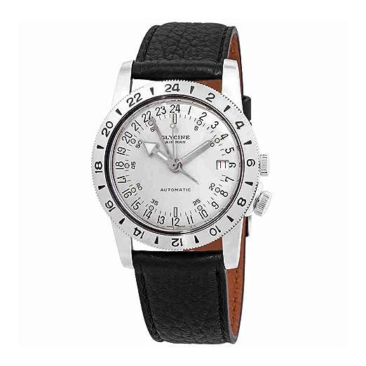 Glycine Airman Reloj para Hombre Analógico de Automático Suizo con Brazalete de Piel de Vaca GL0160: Amazon.es: Relojes
