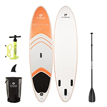 -Tabla de surf de remo (SUP) hinchable Magic Glide naranja (10,
