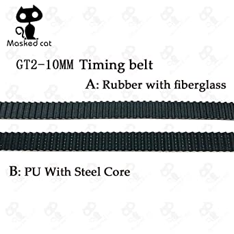 Impresora 3D – Cinturón de poliuretano con núcleo de acero GT2 ...