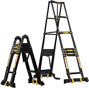 Escalera telescópica Craftfull de aluminio SOFT CLOSE de 3,4 metros, escalera multiusos, escalera de aluminio, escalera de aire (3,4 metros): Amazon.es: Bricolaje y herramientas