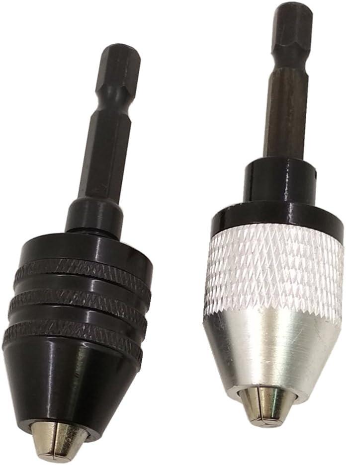 Nizzco 2PCS 0.3-6.5mm Keyless Drill Chuck Conversion Tool,Keyless Conversion Chuck Adapter,1/4-Inch Hex Shank Drill