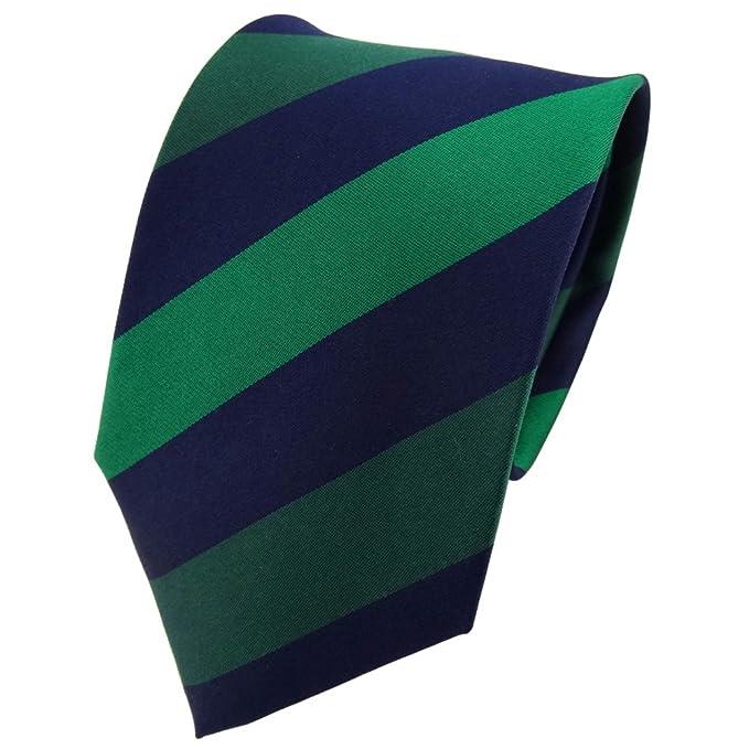 TigerTie diseñador corbata de seda - verde verde oscuro azul ...