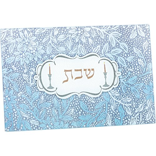 2 Candle Trays - Rite Lite LTD SSGL-2 Tempered Glass Shabbat Candles Drip Tray, 12