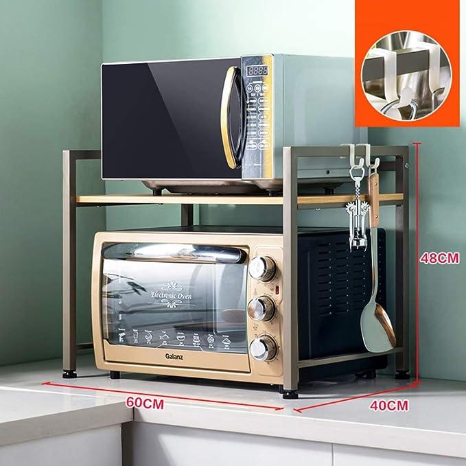 ZXCC Utilidad Estantería Microondas Encimera, Almacenamiento ...