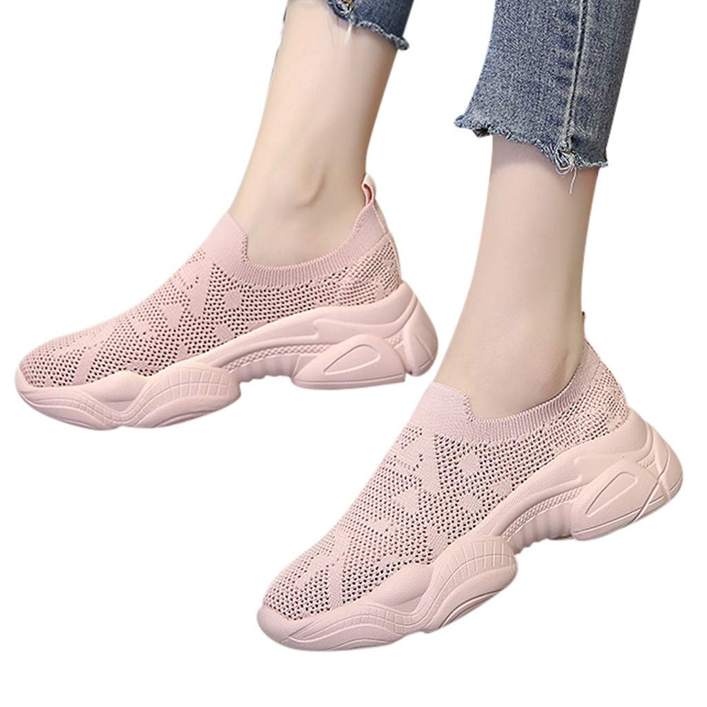 Moonker Womens Walking Sneakers Wide Width Ladies Summer Mesh Comfortable Breathable Casual Shoes Running Shoes