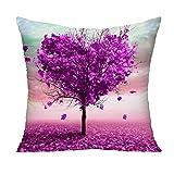 Love Tree Decorative Throw Pillowcase Cushion Cover Square Cushion Cover for Home or Sofa 24 x 24 Inch