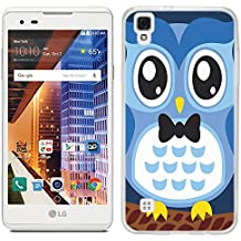 LG Tribute HD case - [Blue Owl] (Crystal Clear) PaletteShield Soft Flexible TPU gel skin phone cover (fit LG Tribute HD)