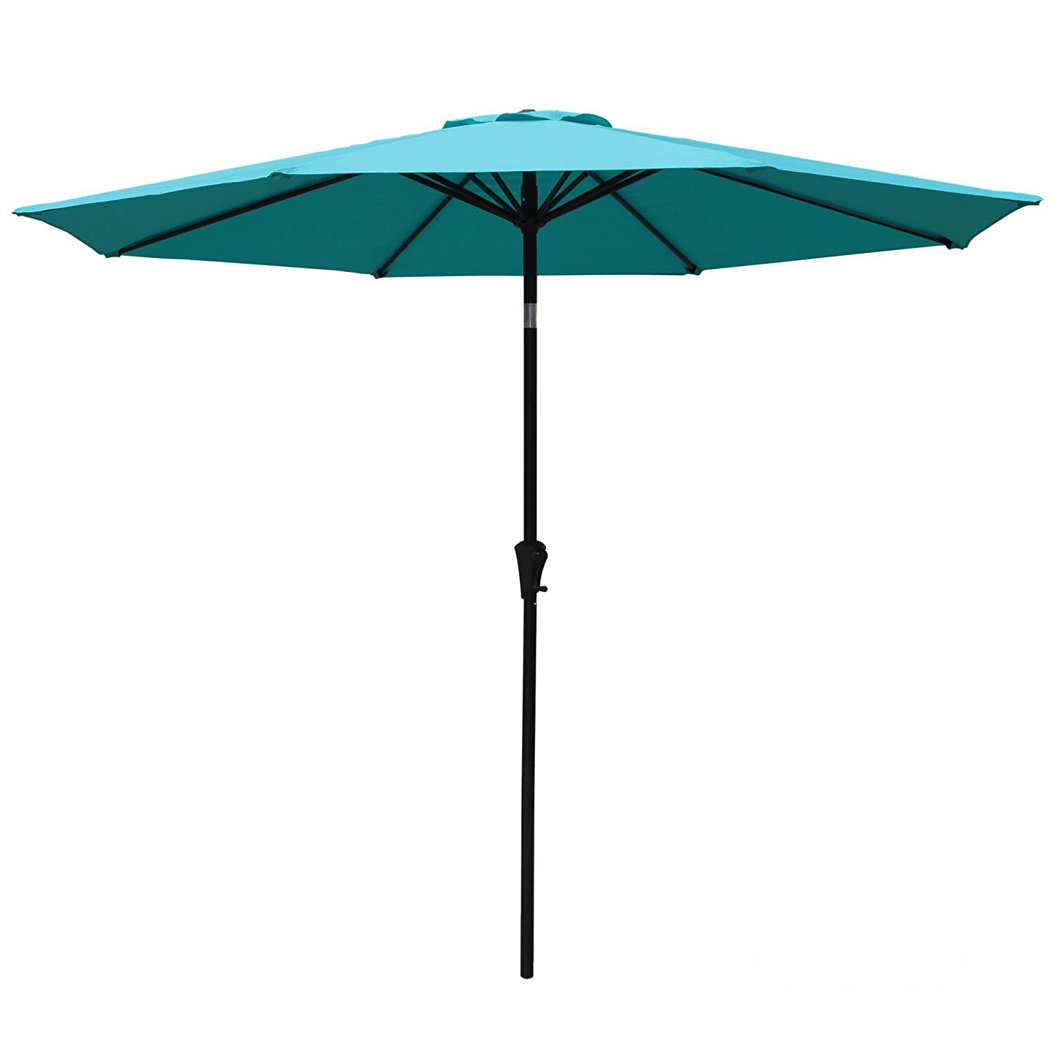 COBANA 9 Ft Aluminum Patio Umbrella. - Patio Umbrellas Amazon.com