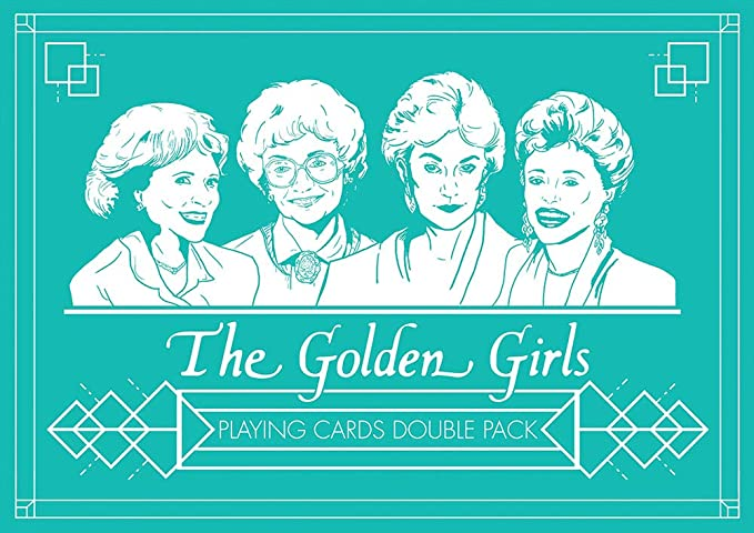 USAopoly The Golden Girls Juego de Cartas Doble Paquete ...