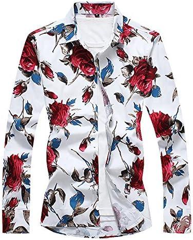 長袖シャツ メンズ アロハ カジュアル ハワイアン 花柄 大きいサイズ