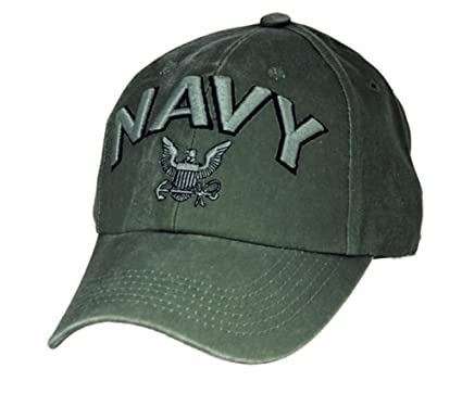 24cb645a5d7 U.S. Navy embroidered cap with logo. Green  Amazon.in  Clothing    Accessories