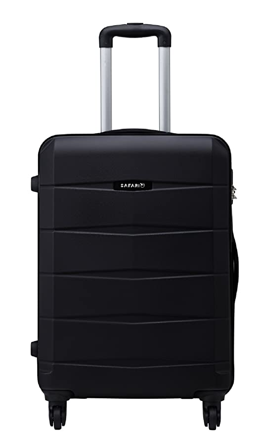 b14a8b462899 Safari Regloss Antiscratch 76 Cms Polycarbonate Black Check-In 4 wheels  Hard Suitcase