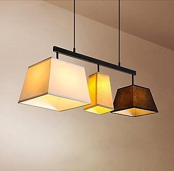 Pendelleuchte Retro Rustikal Esszimmer Lampe 3 Flammig Vintage