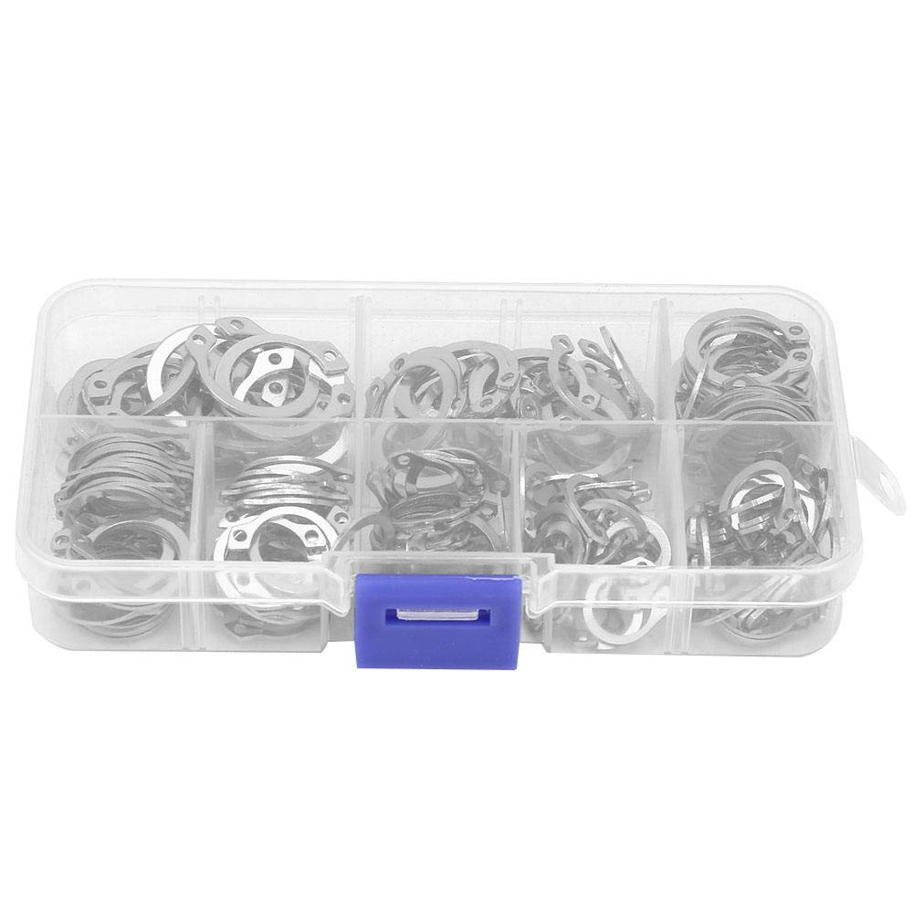 Zerone 200PCS Professional Internal 304 Stainless Steel O-Type Circlip Retaining Ring Assortment Kit