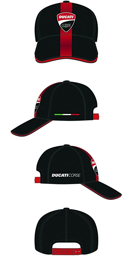 Amazon.com  Ducati Corse Moto GP Racing Baseball Cap Stripe Black Official  2018  Automotive aa91b74e5da6