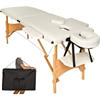 TecTake Table de massage 2 zones pliante cosmetique lit de massage portable + housse de transport - diverses couleurs au choix -