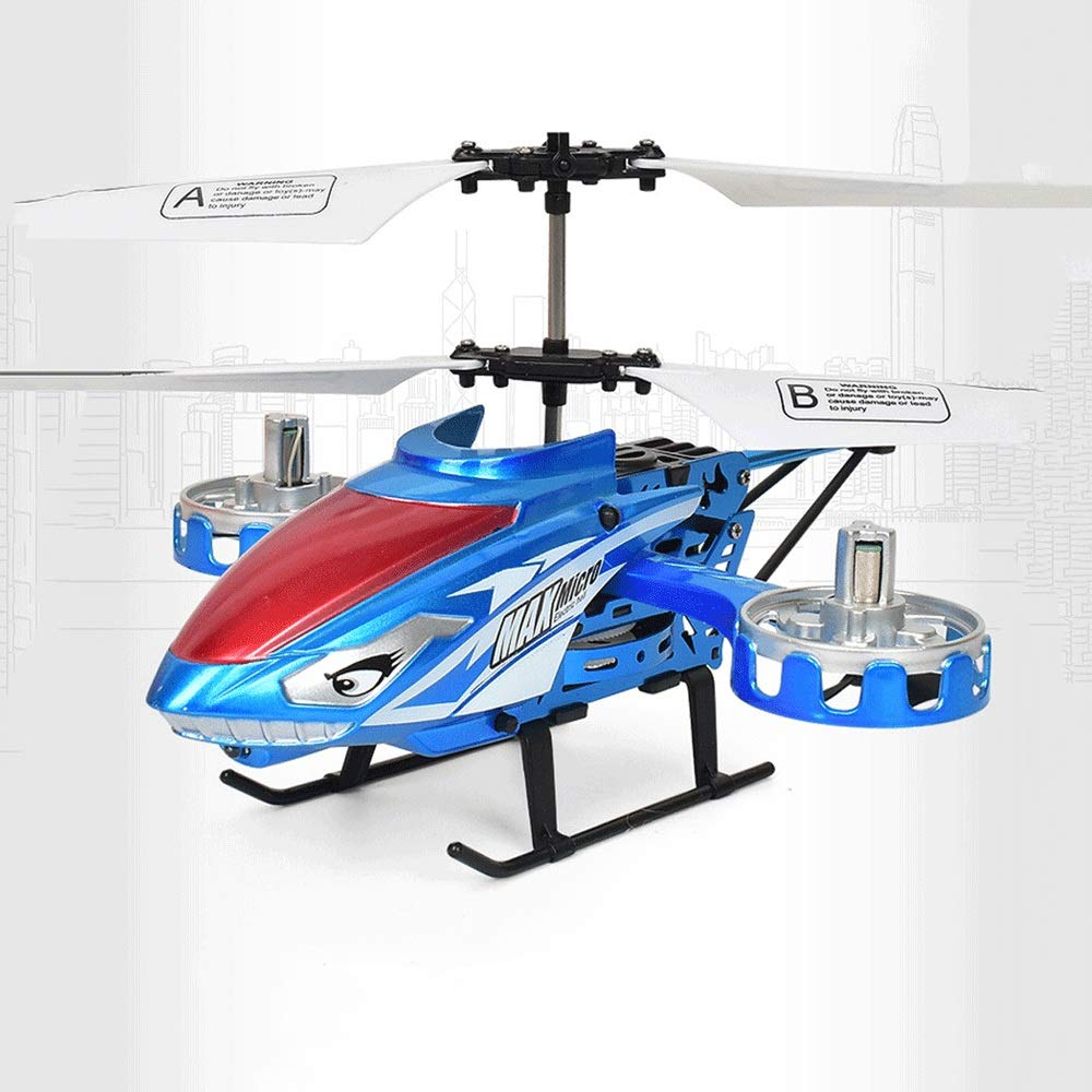Zenghh Remote Control Helicopter Long-Distance Aircraft Shark Toy Alloy Rack Multiplayer Game Boy Child New Charging and LED Lights Outdoor Anti-Collision Rocker Model Preferred Gift ( Color : Blue )