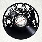Star Wars Handmade Vinyl Record Wall Clock - Get unique bedroom or kitchen wall decor - Gift ideas for his and her – Movie Characters Unique Art Design