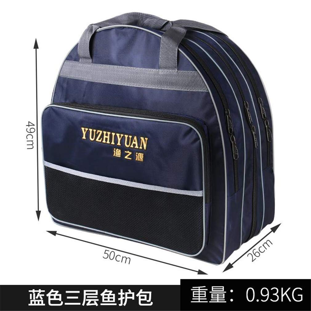 Purpume Fishing Gear Backpack Hard Shell Fishing Bag High Capacity White