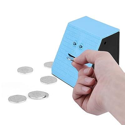 ONEVER Face Money Bank Ladrillo de diseño automático Munching monedas Money Saving Box: Juguetes y juegos