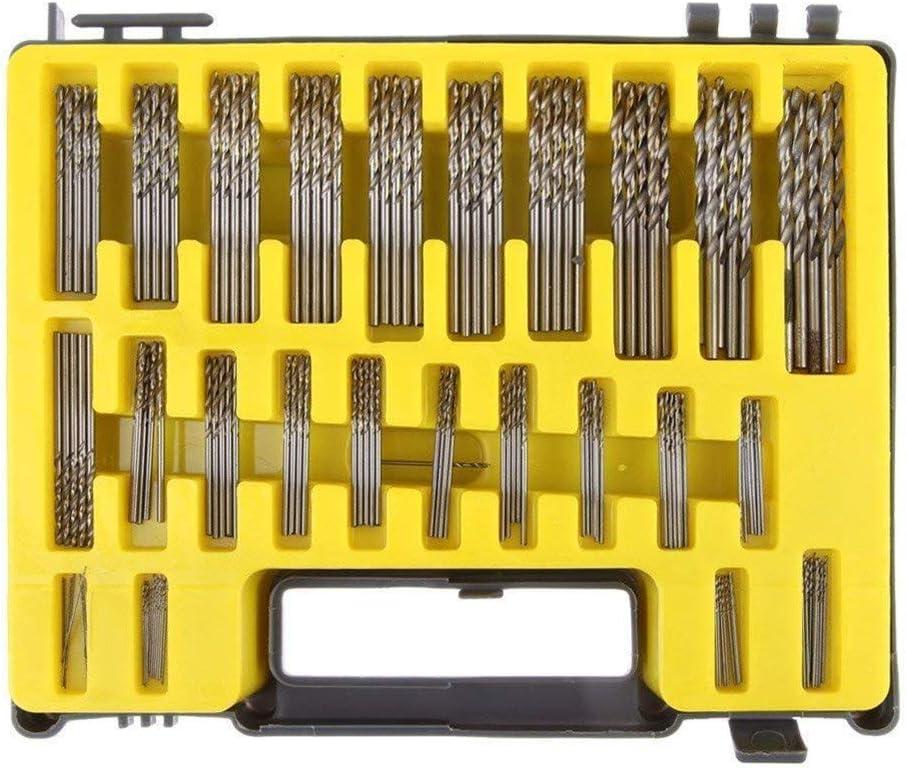 M/èche Set 150pcs 0.4-3.12Mm Micro Twist Forets Kit Mini H/öss Outils /électriques Pi/èces De Rechange Avec /étui De Transport