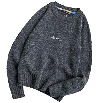 Fubotevic Mens Basic Casual Long Sleeve Knit Chinese Style Regular Fit Pullover Sweater