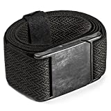 M23 Magnetic Carbon Buckle Stretch Belt by Yaak (Off-Black, Performance Stretch II)