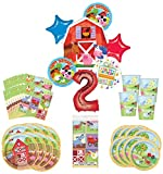 Barnyard Farm Party Supplies 8 Guests 2nd Birthday Balloon Bouquet Decorations